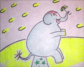 dibujar-elefante-circo