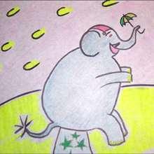 Dibuja un elefante del circo