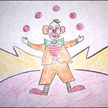 Aprender a dibujar : Dibuja a un payaso malabarista