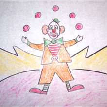 Dibuja a un payaso malabarista - Dibujar Dibujos - Aprender cómo dibujar paso a paso - Dibujar dibujos PERSONAJES - Dibujar personajes del circo