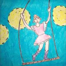 Dibuja a una trapecista - Dibujar Dibujos - Aprender cómo dibujar paso a paso - Dibujar dibujos PERSONAJES - Dibujar personajes del circo