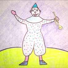 Aprender a dibujar : Dibuja al payaso blanco