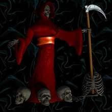Fondo halloween personaje de La Muerte
