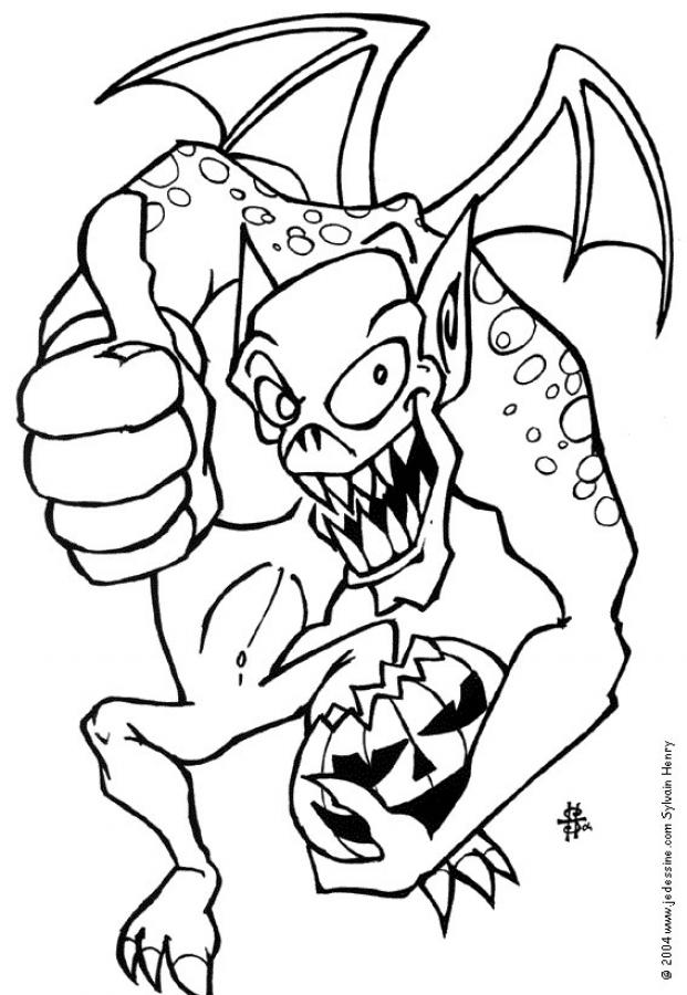 Dibujos para colorear el monstruo de halloween - es.hellokids.com