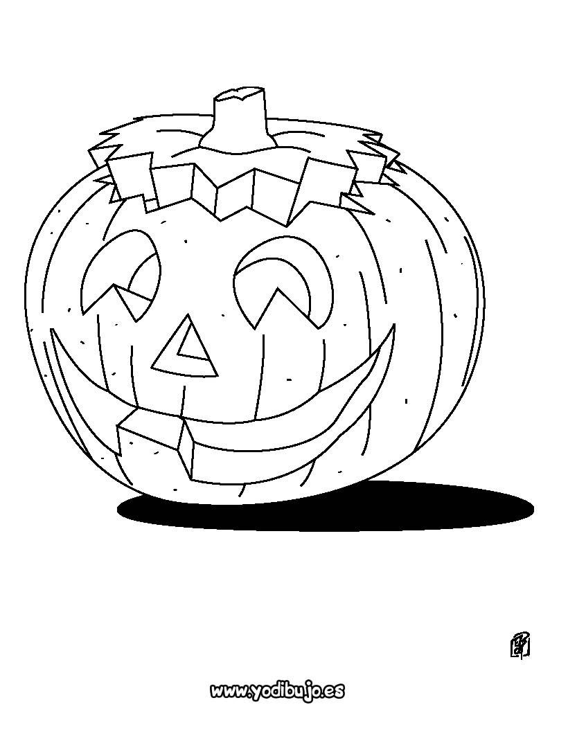 Dibujos para colorear halloween: calabaza con sombrero - es ...