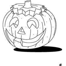 Dibujo para colorear : halloween: calabaza