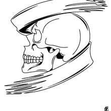 Dibujo para colorear : Monstruo calavera