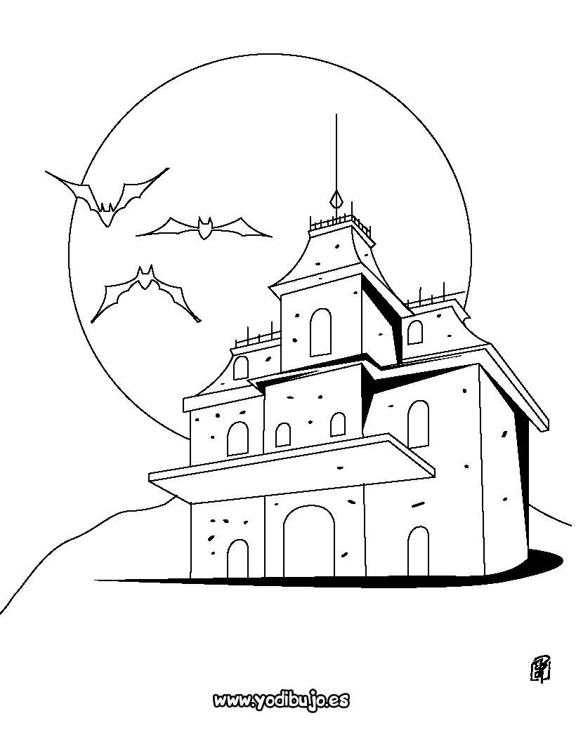 Dibujos para colorear casa encantada - es.hellokids.com