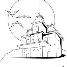 Casa encantada - Dibujos para Colorear y Pintar - Dibujos para colorear FIESTAS - Dibujos para colorear HALLOWEEN - Dibujos para colorear CASA ENCANTADA