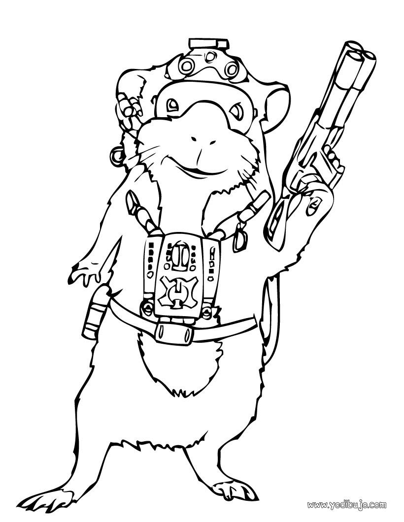 Dibujos para colorear G-Force - 6 páginas Disney para imprimir