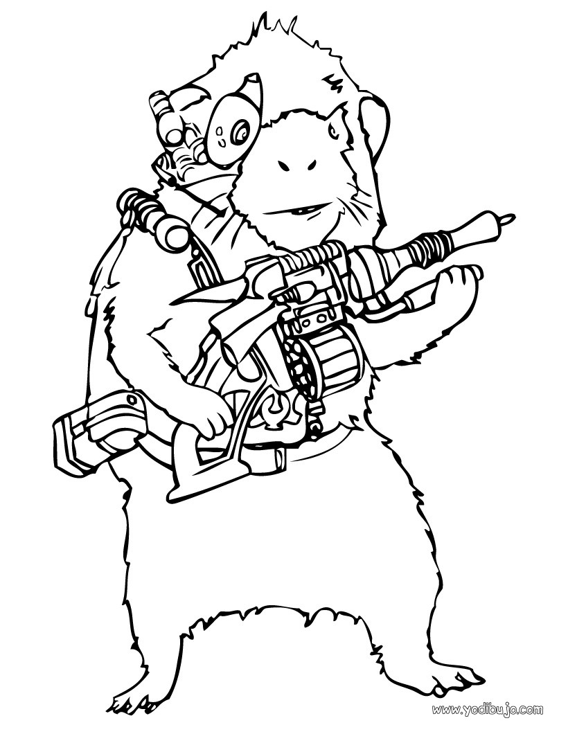Dibujos para colorear agente blaster - es.hellokids.com