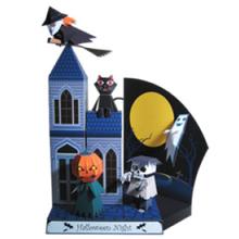 Casa de papel para Halloween - Manualidades para niños - HALLOWEEN manualidades - Adornos HALLOWEEN