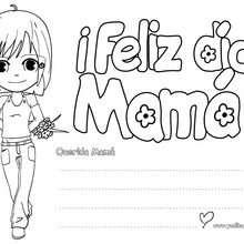 Letrero ¡Feliz día Mamá! - Manualidades para niños - Manualidades infantiles - Marcadores y letreros muy chulos - Marcapaginas DIA DE LA MADRE