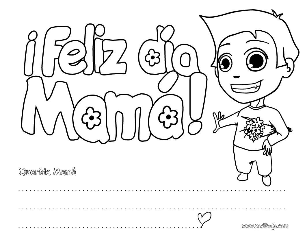 Actividades manuales de letrero niño ¡feliz día mamá! - es.hellokids.com
