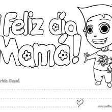Letrero niño ¡Feliz día Mamá! - Manualidades para niños - Manualidades infantiles - Marcadores y letreros muy chulos - Marcapaginas DIA DE LA MADRE