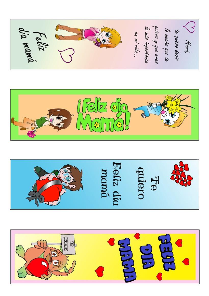 Marcapaginas DIA DE LA MADRE - Marcador de libro del Día de la Madre