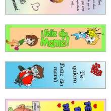 Manualidad infantil : Marcador de libro del Día de la Madre