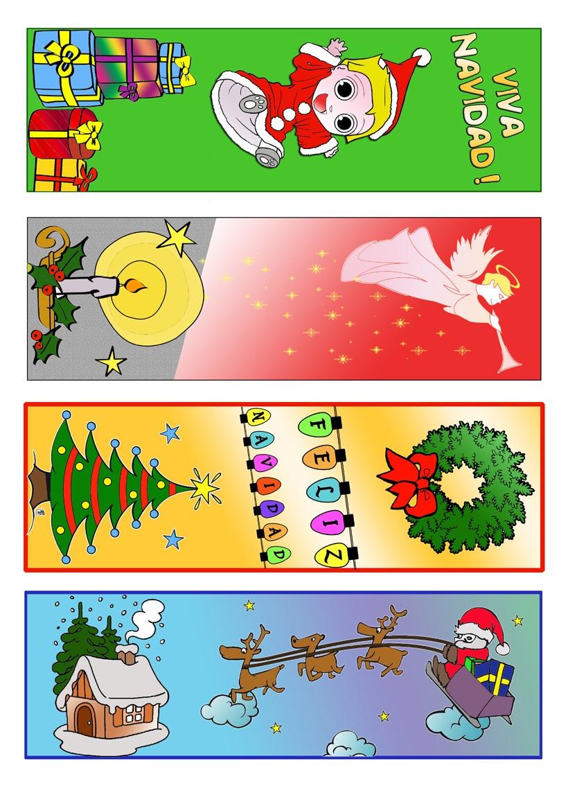 Actividades manuales de marcadores de libros para las navidades - es ...