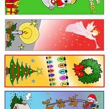 Manualidad infantil : Marcadores de libros para las Navidades