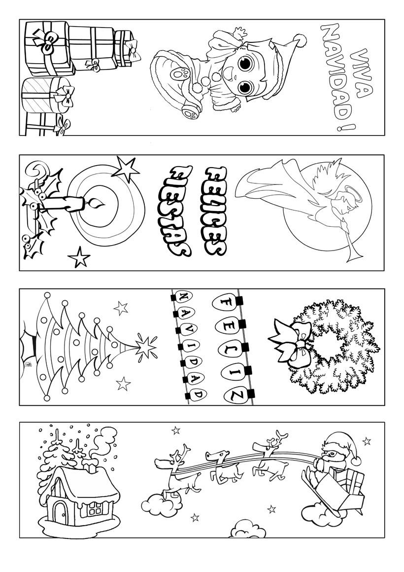 Marcapaginas de Navidad  Actividades manuales  Vdeos de