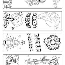 Marcador de página de Navidad para colorear - Manualidades para niños - Manualidades infantiles - Marcadores y letreros muy chulos - Marcapaginas de Navidad