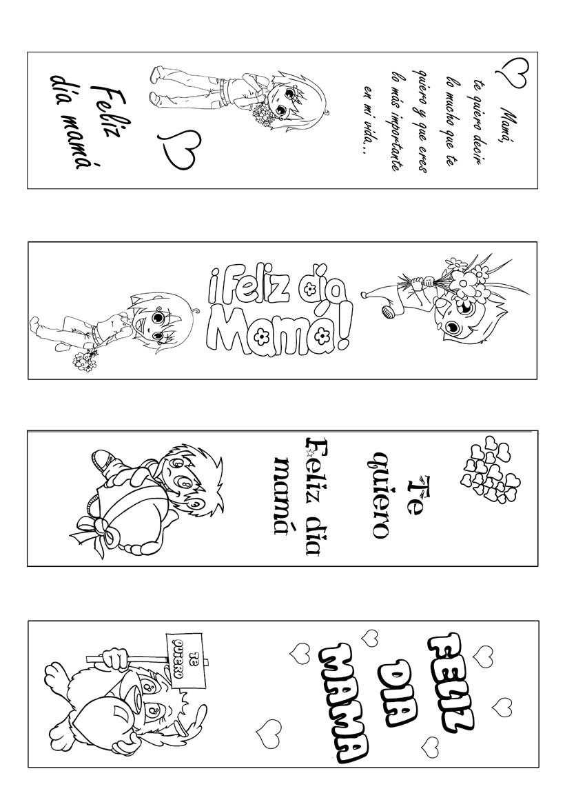 Marcapaginas DIA DE LA MADRE - Marcador de página Día de la Madre ...