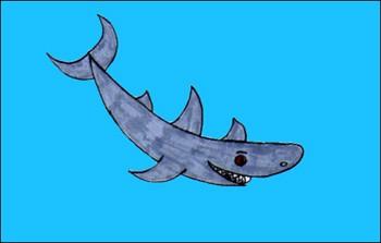 Dibuja un tiburón - Dibujar Dibujos - Aprender cómo dibujar paso a paso - Dibujar dibujos ANIMALES - Dibujar los animales del mar