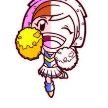Dibujo para colorear : Cooking Mama semi color