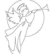 Dibujo para colorear : angel Gabriel