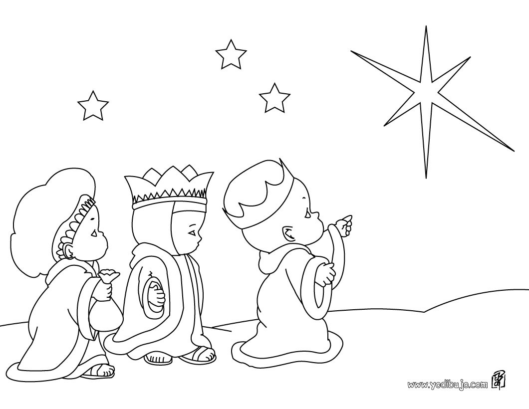 Dibujos para colorear los 3 reyes magos con el niño jesús - es ...