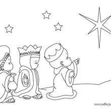 Dibujo para pintar los 3 Reyes Magos - Dibujos para Colorear y Pintar - Dibujos para colorear FIESTAS - Dibujos para colorear de NAVIDAD - Dibujos para colorear de los REYES MAGOS de Navidad - Dibujos REYES MAGOS oriente para colorear