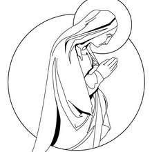Dibujo para pintar de la virgen Maria - Dibujos para Colorear y Pintar - Dibujos para colorear FIESTAS - Dibujos para colorear de NAVIDAD - Dibujos para colorear de NAVIDAD NACIMIENTO - Dibujos de VIRGEN MARIA para colorear