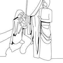 Dibujo San Jose, Jesus y María para colorear - Dibujos para Colorear y Pintar - Dibujos para colorear FIESTAS - Dibujos para colorear de NAVIDAD - Dibujos para colorear de NAVIDAD NACIMIENTO - Dibujos de SAN JOSE para colorear