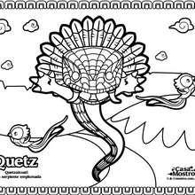 Quetz para colorear - Dibujos para Colorear y Pintar - Dibujos para colorear PERSONAJES - Dibujos para colorear y pintar PERSONAJES - Dibujos para colorear  - La Casa Del Mostro
