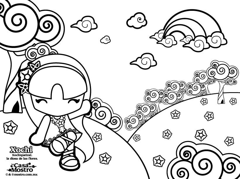 Dibujos para colorear xochi - es.hellokids.com