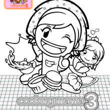 Dibujo Cooking Mama 3 - Dibujos para Colorear y Pintar - Dibujos para colorear PERSONAJES - Dibujos para colorear y pintar PERSONAJES - COOKING MAMA WORLD para colorear - COOKING MAMA 3 - Nintendo DS: dibujos para pintar
