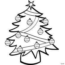 Dibujo Arbol de Navidad para pintar - Dibujos para Colorear y Pintar - Dibujos para colorear FIESTAS - Dibujos para colorear de NAVIDAD - Dibujos para colorear ARBOL DE NAVIDAD