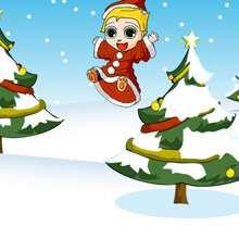 Dibujo Navidad PAPA NOEL - Dibujar Dibujos - Dibujos infantiles para IMPRIMIR - Dibujos de NAVIDAD para imprimir - Dibujos PAPA NOEL