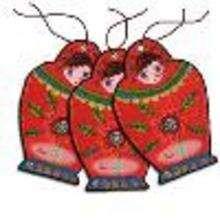Etiquetas para regalos: muñecas navideñas