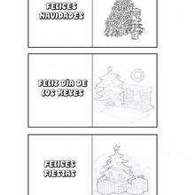 Manualidad infantil : Etiquetas para regalos: Arbol de Navidad