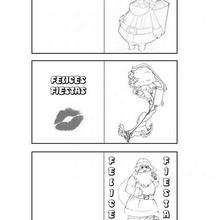 Manualidad infantil : Etiquetas para regalos: Papa Noel