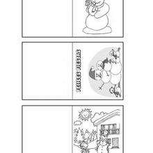 Manualidad infantil : Etiquetas para regalos: muñecos de navidad