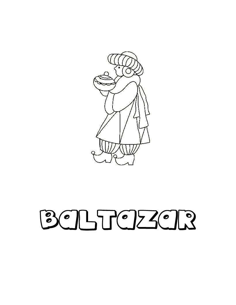 Dibujos para colorear baltasar el rey persa  eshellokidscom