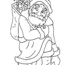 Dibujo Papa Noel para colorear - Dibujos para Colorear y Pintar - Dibujos para colorear FIESTAS - Dibujos para colorear de NAVIDAD - Dibujos para colorear de PAPA NOEL - PAPA NOEL para colorear