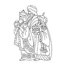 Dibujo para colorear : Baltasar de los Reyes Magos