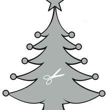Plantilla para estarcir: un árbol navideño - Manualidades para niños - Manualidades NAVIDEÑAS - ADORNOS NAVIDEÑOS - DECORACION PARA NAVIDAD