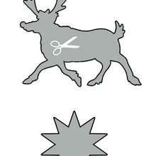 Plantilla para estarcir: un reno de Navidad - Manualidades para niños - Manualidades NAVIDEÑAS - ADORNOS NAVIDEÑOS - DECORACION PARA NAVIDAD