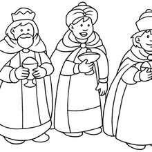 Dibujo para pintar los Reyes Magos - Dibujos para Colorear y Pintar - Dibujos para colorear FIESTAS - Dibujos para colorear de NAVIDAD - Dibujos para colorear de los REYES MAGOS de Navidad - Dibujos REYES MAGOS oriente para colorear