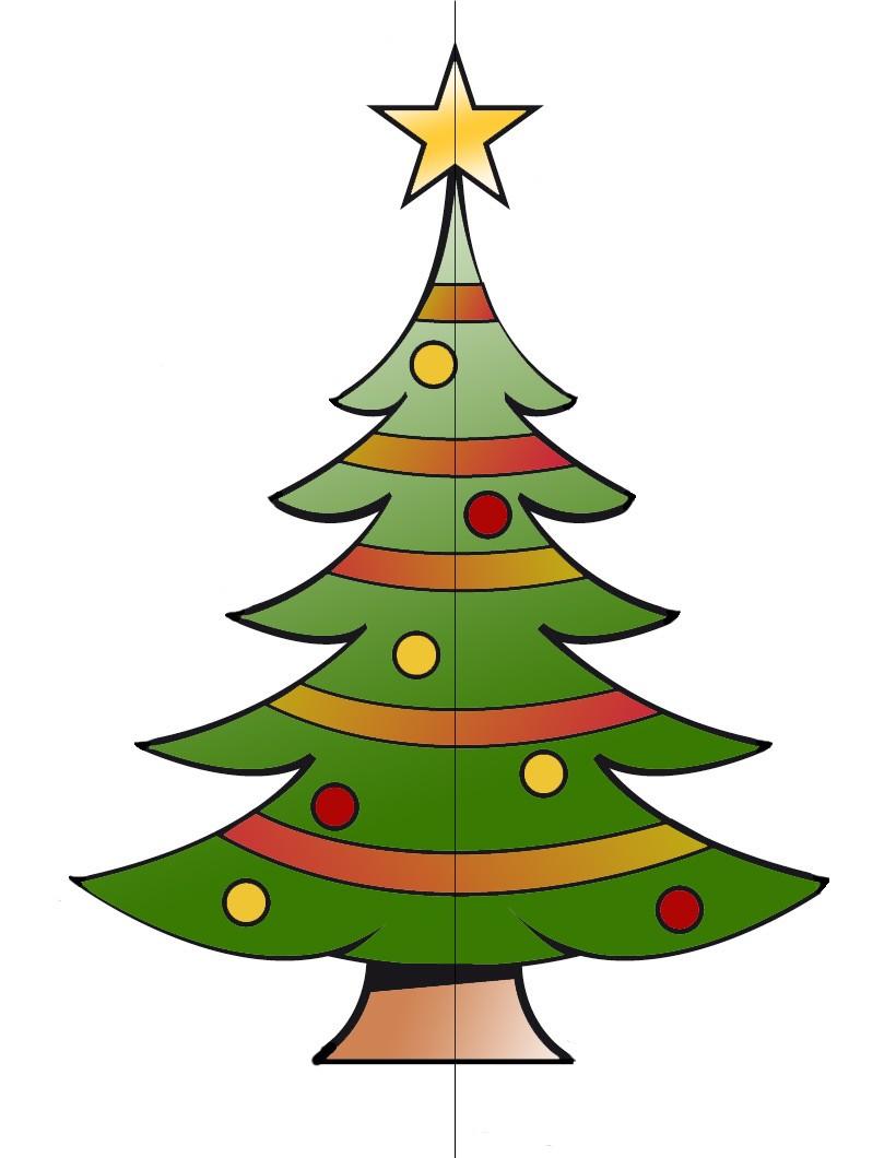 rbol de navidad tridimensional plantilla arbol 3d 1 - Arbol De Navidad