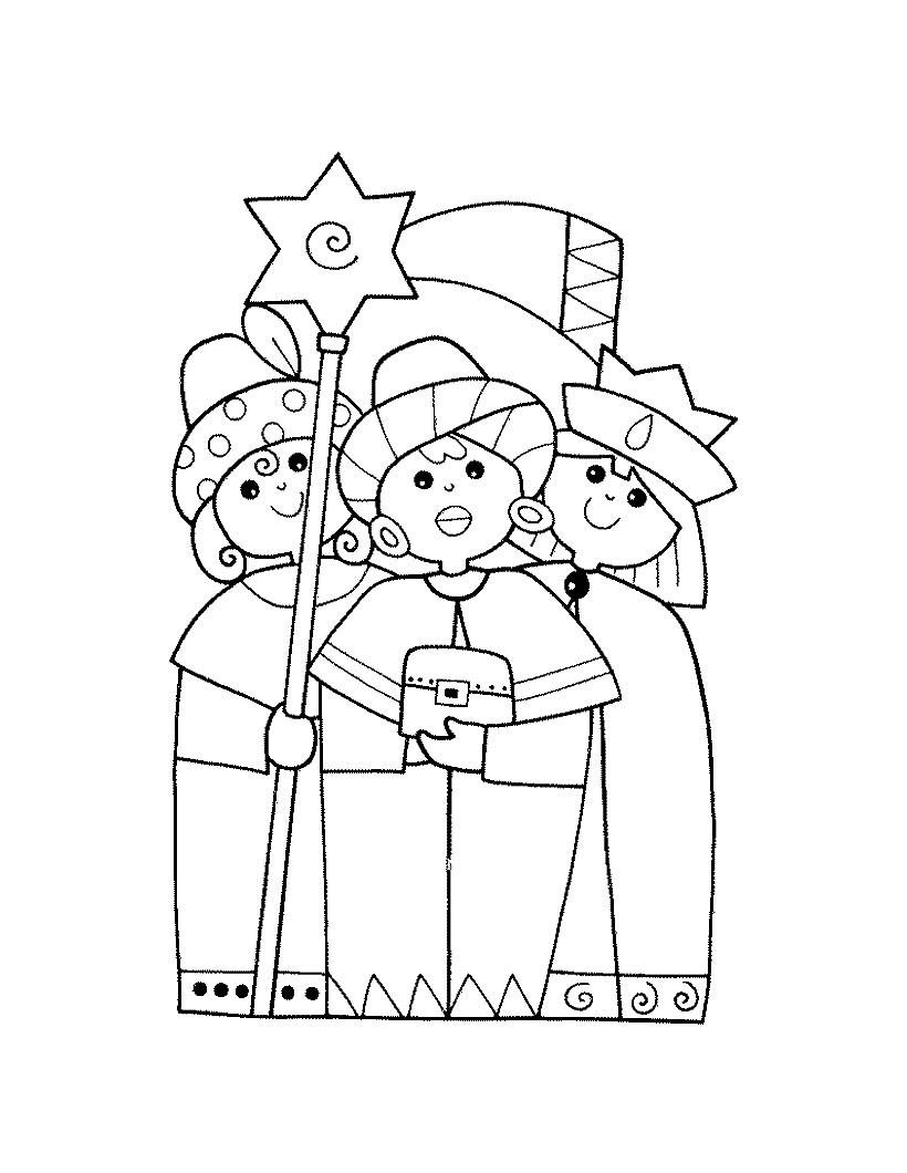 Reyes Magos Dibujos Para Colorear Manualidades Para Niños